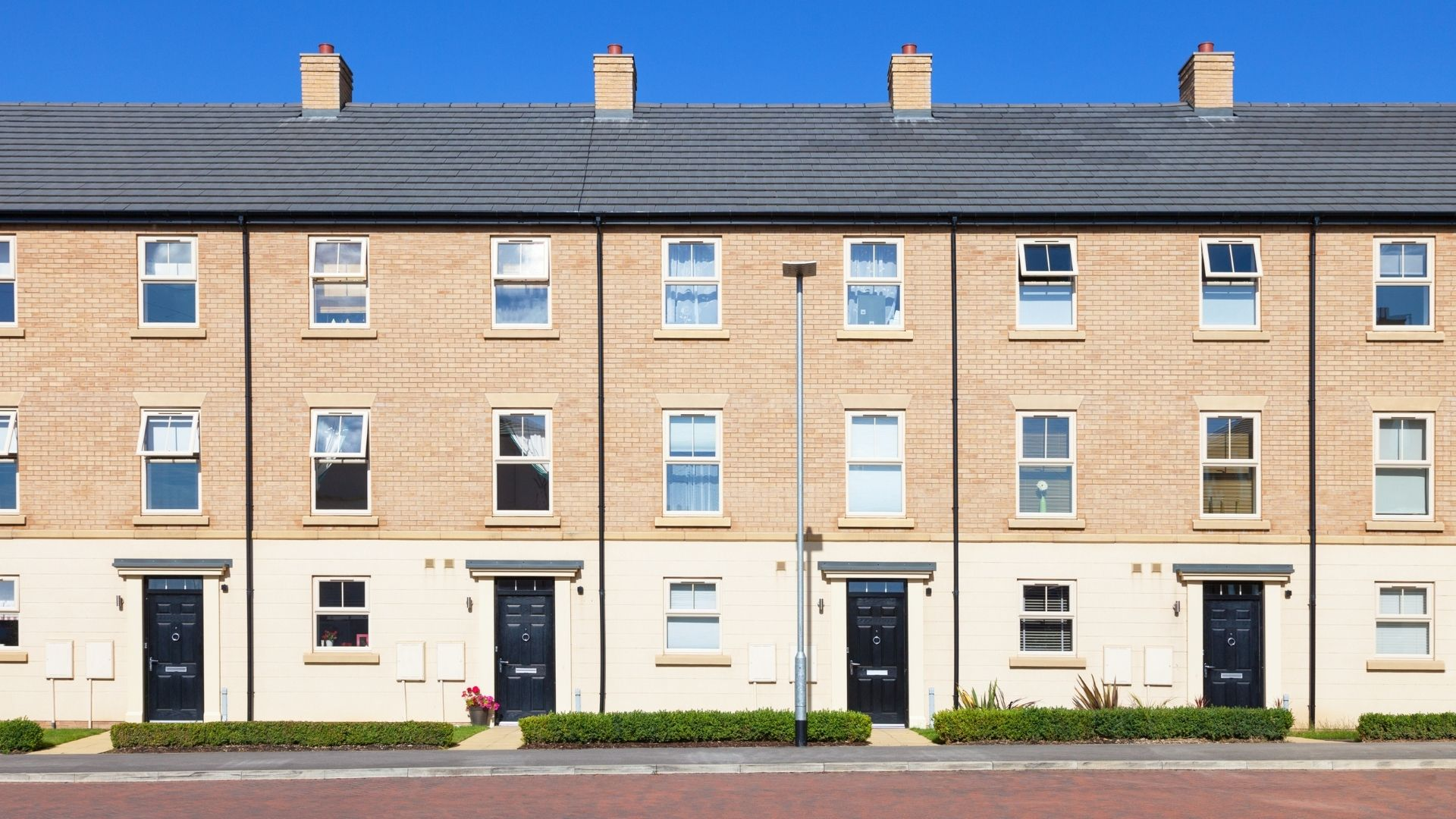 Line of terraced houses